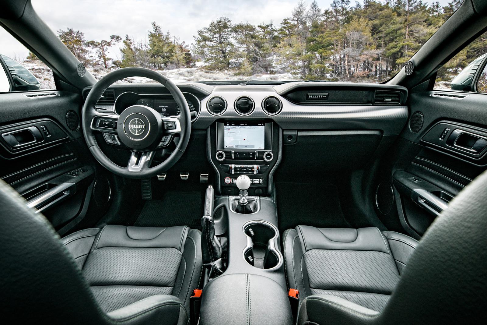 asientos del Mustang Bullitt