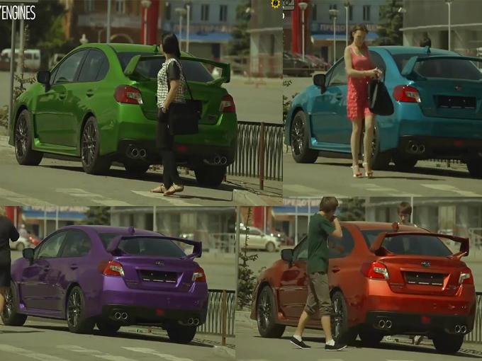 Subaru Juega Broma Con Sti Que Cambia De Color Atraccion360