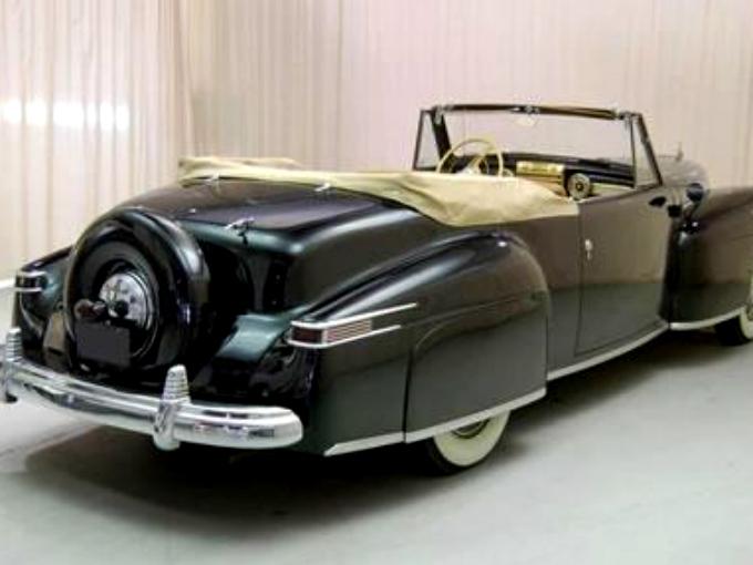Pedro Infante conducía un Lincoln 1942 V12 convertible, un vehículo de lujo altamente equipado. Fotos: Autos Clásicos Mexicanos Fb