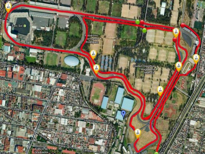 Direcci n transporte y acceso del autodromo hermanos for Puerta 2 autodromo hermanos rodriguez