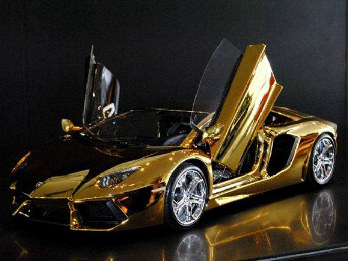 el lamborghini aventador de oro de 7.5 millones de dólares  atraccion360