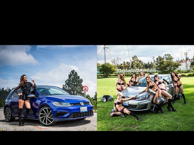 Parecen similares, pero enn los entresijos hallarás que el Golf R es absolutamente diferente al Golf GTI. Fotos: Nacho Galar