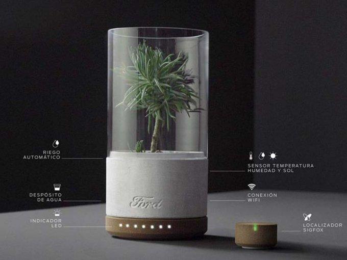 El accesorio, incluye una planta que te motiva a hacer ejercicio. Foto: Especial