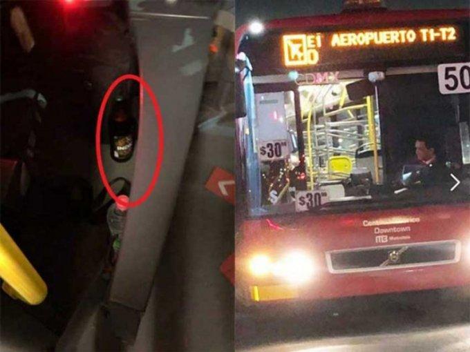 Despiden a chófer de Metrobús acusado de ir 'cheleando'