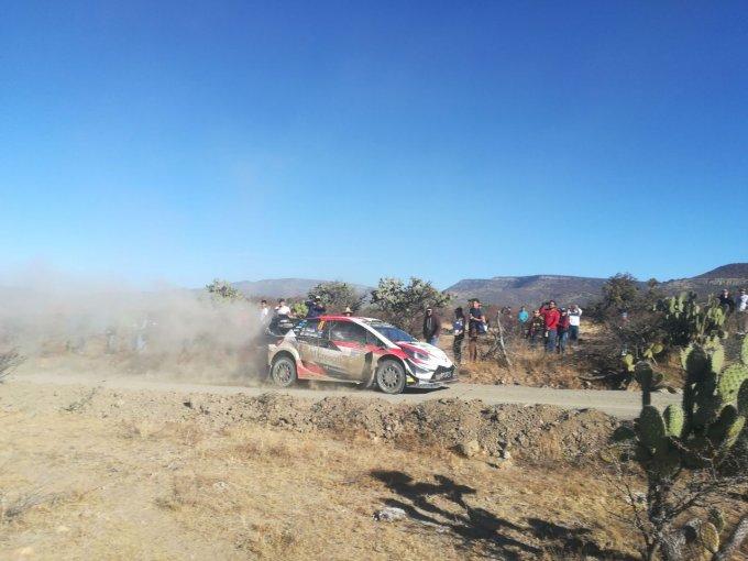 Acción en el WRC de México en el tramo de Guanajuatito