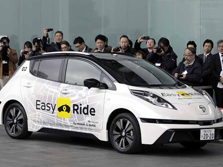 taxi autonomo nissan pruebas japon marzo