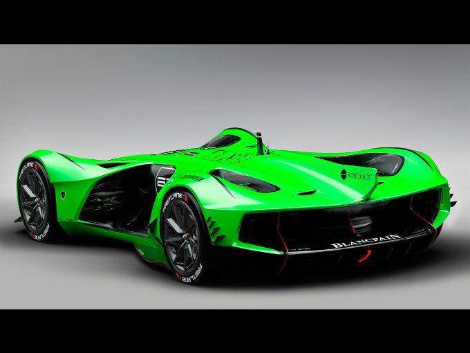 Este Lamborghini de carreras no necesita de un piloto