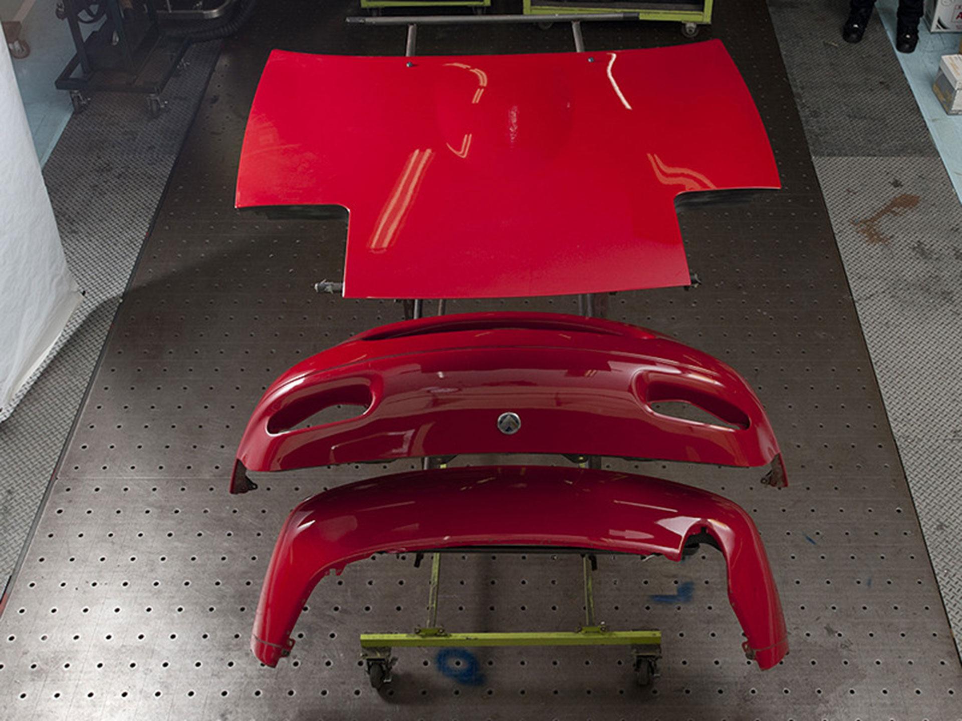 Sus piezas fueron repintadas una por una. Foto: Mazda
