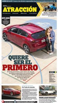 Suplemento Atracción 27 de agosto de 2016. Kia Forte hatchback