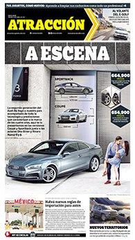 Suplemento Atracción sábado 29 de abril de 2017. Audi A5
