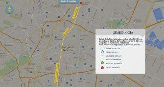 Estos son los mapas con las rutas de los recorridos del Papa Francisco