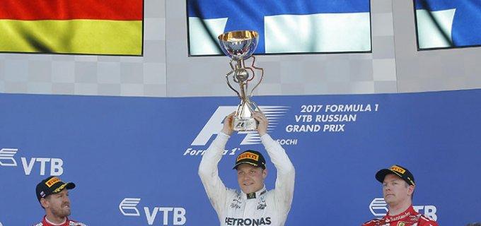 Valtteri Bottas se estrena en Formula 1: ganó su primera carrera en Rusia