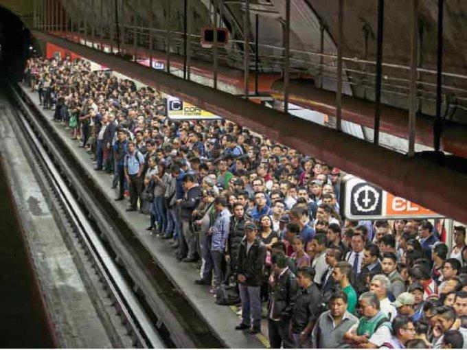Sólo India posee un Metro más saturado