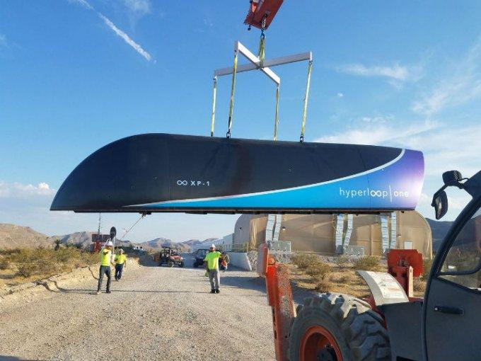 La firma Hyperloop One, efectuó con éxito su demuestra de velocidad. Foto: Hyperloop One