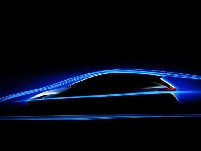 Nissan permitió ver la silueta aerodinámica de la nueva generación del LEAF, el coche eléctrico más vendido de todo el mundo. Foto: Nissan