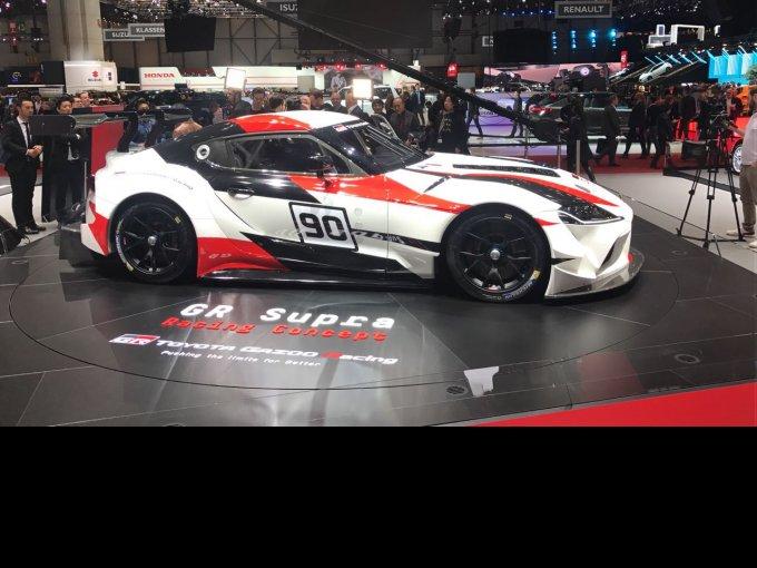 Señoras y señores, con ustedes la versión de competencia, el Toyota GR Supra Racing Concept